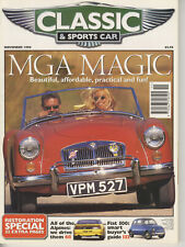 CLASSIC and SPORTSCAR 11/1996 MGA FIAT 500 GS BIROTOR LANCIA GAMMA ALPINE A110