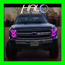 2007-2013 Chevy Silverado Violet LED Phare avant Rond V1 Halo Ring Kit By Oracle