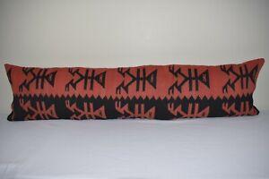 """16"""" X 62"""" Turkish Rug Pillow Cover Lumbar Pillow Long Pillow cushion Cover"""
