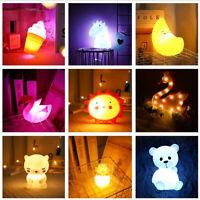LED Night Light Lovely Pink Swan Children Bedroom Lamp Home Decor Birthday Gift