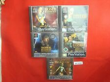 Ps1 jeux: Tomb Raider 1+2+3+4+ la chronique collection 1-5 Lara Croft I + II + III + IV
