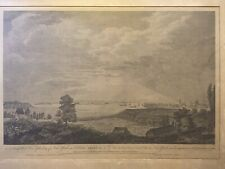 View-City of NEW YORK--Pierre-Charles Canot- Large rare copper engraving c. 1763