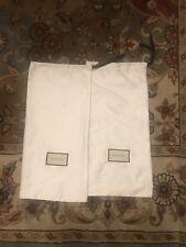 cccfa72348c645 AUTHENTIC GUCCI WHITE SATIN LOGO DUST BAG STORAGE SHOE COVER 17.75 X 8.25
