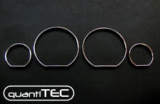 CHROME TACHO RINGS SPEEDOMETER RINGS SET BMW E46 LIMOUSINE TOURING