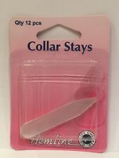 Collar Stays: Clear 12 Pieces