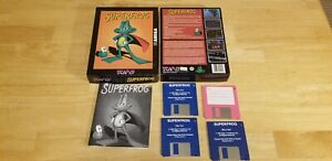 """Superfrog T eam 17  Commodore Amiga 3.5"""" Disk in box with Manual"""