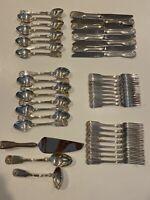 "Vtg 43 Reed & Barton ""Winterthur"" Silver Plated Flatware Set (8 Of Each Utensil)"