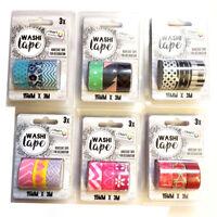 3 x 3M Washi Masking Tape Rolls Decorative Sticky Paper Masking Adhesive Planner