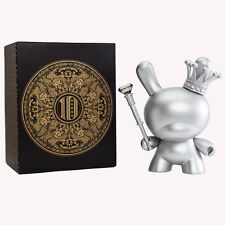 "KIDROBOT 8"" DUNNY SILVER KING TRISTAN EATON 2012 10 YEAR ANNIVERSARY LIMITED"