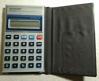 Sharp ELSI MATE EL-339 Metric Converter Pocket Calculator With Case - S/N: 67016