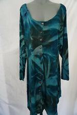 Made in Italy Tunika Lagenlook Zipfel Sommer Kleid / Blau /  gr 44-46-48