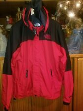 THE NORTH FACE PARKA/JACKET MEN RED/BLACK TRIM SIZE LARGE WITH HOODY/HOODIE