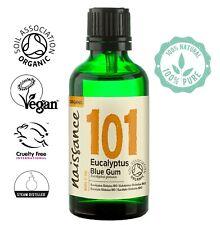 Naissance Eucalyptus, Blue Gum Certified Organic Essential Oil 50ml 100% Pure