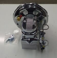 "CAMARO AND  CHEVELLE GTO  11"" CHROME BRAKE BOOSTER AND MASTER CYLINDER NEW PV2C"