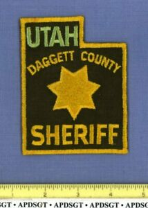 DAGGETT COUNTY SHERIFF UTAH Police Patch STATE SHAPE GOLD STAR