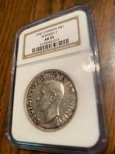 1947 Canada Dollar Pointed 7 NGC AU 55 **