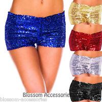 I53 Ladies Sequin Shorts Fancy Costume Dance Hot Pants Boy Leg Burlesque
