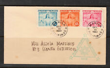 Philippine Stamps-Japanese Occupation 1943 Oct 14 Kalayaan imperforate set on FD