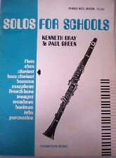 SOLOS FOR SCHOOLS - CLARINET ACCOMPANIMENT BOOK   Music s/c