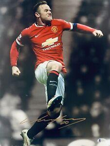 Manchester United Wayne Rooney Signed 12x16 Photo BAS Beckett COA