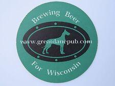 Beer Coaster >< GREAT DANE Pub & Brewing Company ~ Madison, WISCONSIN ~ Est 1994