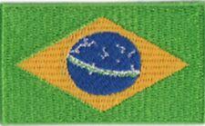 Brazil Flag Small Iron On / Sew On Patch Badge 6 x 3.5cm Brasil Brazilian