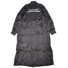 NWT Comme Des Garcons Black CDG Logo S/S 1986 Long Satin Staff Coat L AUTHENTIC