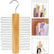 Multifunctional 20Bar Wooden Tie Hanger-Belt &Tie Scarf Rack  Storage Organiser