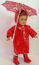 """Umbrella Boots Rain Coat for American Girl Doll 18"""" Accessories SET"""
