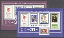 100 Jahre UPU, Raumfahrt, Mona Lisa - Ungarn - Bl. 114, 114 I B ** MNH 1974