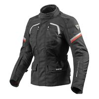Rev'it Neptune GTX Ladies Jacket Black Gore-Tex Waterproof Motorcycle Jacket NEW