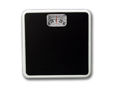 Black Weighing Scale Analog Home Gym Weight Manual Mechanical Rotating Dial