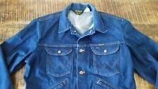 Men's Vintage 70s Blue Denim WRANGLER No Fault Jean Trucker Western Jacket Sz-42
