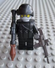 Lego Custom SWAT Military SEAL Minifigure with Assault Rifle & RPG