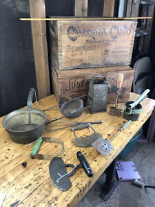 F50 Antique/Vintage Kitchen Utensils ~ Lot of Different Cooking Tools