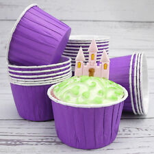 Purple Baking Cups For Cupcakes, Pack of 24