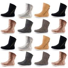 Neu Damen Schlupf Stiefel Stiefeletten Boots Warm Gefüttert Flache 1583 Schuhe