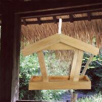 Large Bird House Wood Wooden Hanging Standing Birdhouse Garden Decora  Feeder A