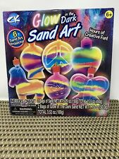 Creative Kids Glow In The Dark Sand Art Kit Toy Gift Fun 6 Projects