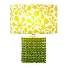 Lime Green RetroPsychedelic Ceramic Contemporary Table Lamp w/ Shade 19""
