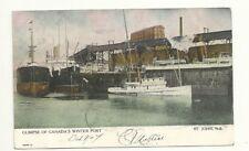St. John N.B. Canada Winter Port Ship Postcard 1907