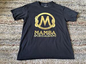 Mamba Sports Academy Kobe Snake Gold Logo Gildan Basketball T Shirt Size M Black