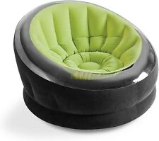 Inflatable Empire Chair  Green w/Flocked Seat . Great for Teens or Dorm room!