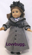 Gray Victorian Coat Hat Set for 18 inch Doll American Girl Lovvbugg Most Variety