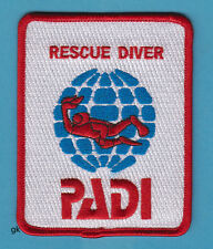 """PADI SCUBA DIVE DIVING RESCUE DIVER PATCH  ( 4"""" X 3"""")"""