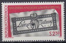 Österreich Austria 1980 ** Mi.1657 Linzer Zeitung Newspaper