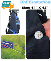 """Players Golf Towel Microfiber Sports Towel Waffle With Hook 14""""*42"""" Size US"""