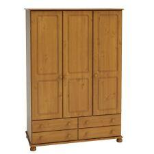 Steens Richmond solid Antique Pine 3 Door 4 Drawer Wardrobe