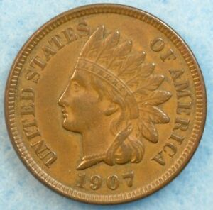 1907 Indian Head Cent Penny Very Nice Old Coin LIBERTY Fast S&H 448