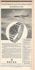 1958 Original Advertising Publicité' Rolex Montre Gmt-Master